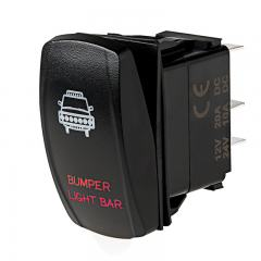 Weatherproof LED Rocker Switch - Bumper Light Bar Switch