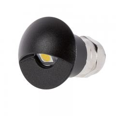 Recessed LED Step/Deck Light - 1 Watt - Black Eyelid Light - 4000K/3000K