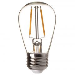 LED Vintage Light Bulb - S14 LED Sign Bulb w/ Filament LED - 15 Watt Equivalent - 180 Lumens