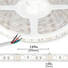 Outdoor RGB LED Strip Lights - Waterproof 12V LED Tape Light - 97 Lumens/ft.