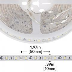 Outdoor LED Strip Lights - Weatherproof 12V LED Tape Light w/ Plug and Play Connectors - 80 Lumens/ft.