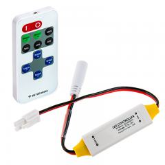 Single Color LED Controller w/ LC2 Connector - Wireless RF Remote w/ Dynamic Modes