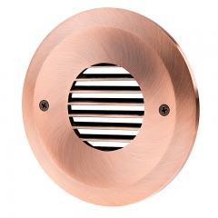 Face Plate for Round LED Step Light - Open Window or Louvered