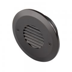 12V LED Deck Lights - Louver Round Deck Accent Light with Faceplate - 3 Watt