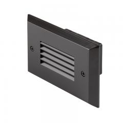 120V LED Step Light with  Louvered Faceplate