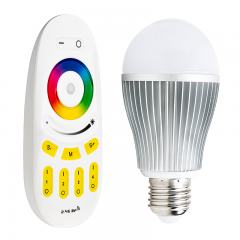 MiLight WiFi Smart Light Bulb with Touch Remote - RGBW LED Bulb - 60 Watt Equivalent - 850 Lumens