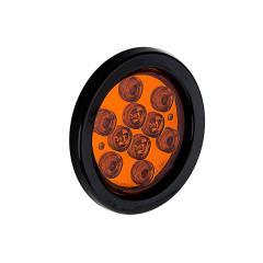 "Round LED Truck Trailer Lights - 4"" LED Brake/Turn/Tail Lights - 3-Pin Connector - Flush Mount - 10 LEDs"