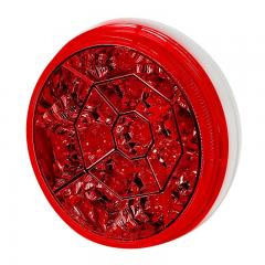 "Round LED Truck and Trailer Lights - 4"" LED Brake/Turn/Tail Lights - 3-Pin Connector - Flush Mount - 17 LEDs"