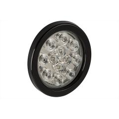 "Round LED Truck and Trailer Lights - 4"" LED Brake/Turn/Tail Lights - 3-Pin Connector - Flush Mount - 12 LEDs"