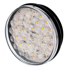 "Warm White Round LED Truck and Trailer Backup Light - 4"" LED Reverse Light - 3-Pin Connector - Flush Mount - 30 LEDs"