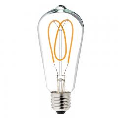 Spiral Filament LED Bulb - ST18 Carbon Filament Style Bulb - Dimmable 40W Equivalent - Heart - 153 Lumens