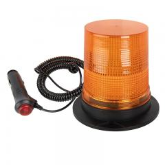 "5-1/2"" Amber LED Strobe Light Beacon - Magnetic Surface Mount - 12V Adapter - 3 Flash Patterns"