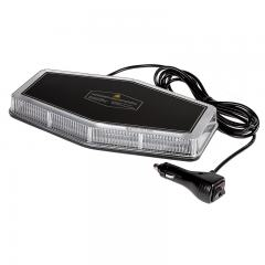 "Mini Emergency 11"" LED Light Bar - Magnetic Surface Mount - 360° Safety Strobe Light - 12V Plug"