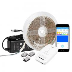 RGBW LED Strip Kit - Color Changing + White LED Tape Light - 5m - Bluetooth Smartphone App Controlled