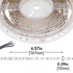 5050 LED Strip - RGB LED Tape Light - 24V - IP20 - 9 LED/ft.