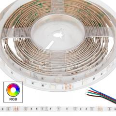 5050 RGB LED Strip Light/Tape Light - 24V - IP20 - 9 LED/ft.