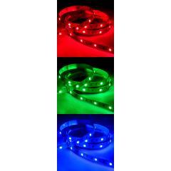 5050 LED Strip - RGB LED Tape Light - 24V - IP20 - 9 LED/ft.
