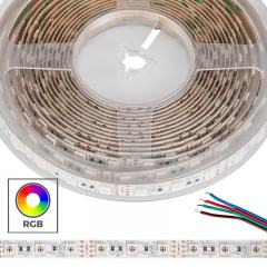 5050 RGB LED Strip Light - Color-Changing LED Tape Light - 12V - IP20 - 18 LEDs/ft