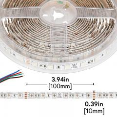 5050 LED Strip - RGB LED Tape Light - 24V - IP20 - 18 LED/ft.