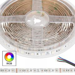 5050 RGB LED Strip Light/Tape Light - 24V - IP20 - 18 LEDs/ft