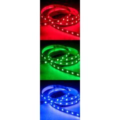 5050 LED Strip - RGB LED Tape Light - 24V - IP20 - 18 LED/ft.