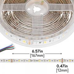 5050 LED Strip - RGB+W LED Tape Light - 24V - IP20 - 18LED/ft.