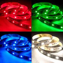 5050 LED Strip - RGB+W LED Tape Light - 24V - IP20 - 18LED/ft.