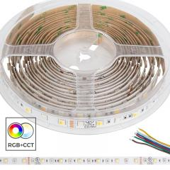 5050 RGB+Tunable White LED Strip Light/Tape Light - 24V - IP20 - 152 Lumens/ft
