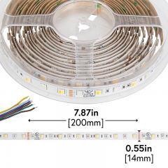 5050 LED Strip - RGB+CCT LED Tape Light - 24V - IP20 - 152 Lumens/ft.