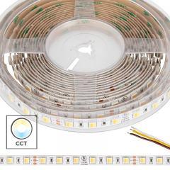 5050 Tunable White LED Strip Light/Tape Light - 24V - IP20 - 335 Lumens/ft - 2-in-1 Chip