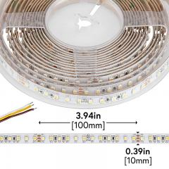 3528 LED Strip - W+W Tunable White LED Tape Light - 24V - IP20 - 350 Lumens/ft.