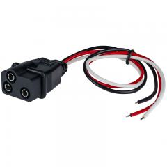 Straight 3-Pin Socket for Trailer Lights and Truck Lights