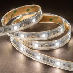 5050 RGB+W LED Strip Light - Color Changing + White LED Tape Light - 24V - IP67  Weatherproof - 5m - 204 Lm/Ft