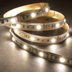 5m 5050 RGB+W LED Strip Light - Color Changing + White LED Tape Light - High Density - 12V - IP54