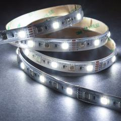 5m 5050 RGB+W LED Strip Light - Color Changing + White LED Tape Light - High Density - 12V - IP54