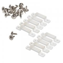 12mm Silicone Mounting Clip and Screws for STW Series Waterproof Strip Lights - 10 Pack