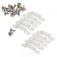 14mm Silicone Mounting Clip and Screws for STW Series Waterproof Strip Lights - 10 Pack