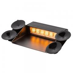 Vehicle LED Mini Strobe Light - LED Dashboard Light - 18W - Built In Controller - Suction Cup Mount