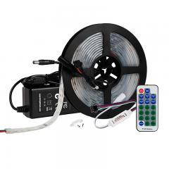 5m Digital RGB LED Strip Light Kit - Single Addressable Color-Chasing LED Tape Light - 12V - IP67