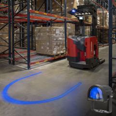 Blue LED Forklift Safety/Warning Light w/ Arc Beam Pattern