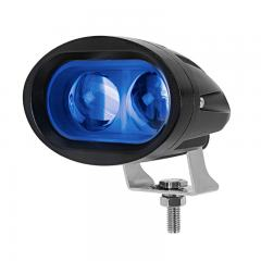 Blue LED Forklift Light - LED Safety Spotlight with 4° Square Beam Pattern