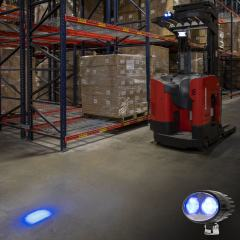 Forklift Blue Light - LED Safety Light with 2° Square Beam Pattern - SWL-B6-O2