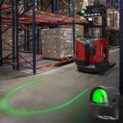 Green LED Forklift Safety/Warning Light w/ Arc Beam Pattern
