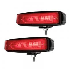 Red LED Forklift Light - LED Safety Light with Linear Beam Pattern - Red - 2 Pack