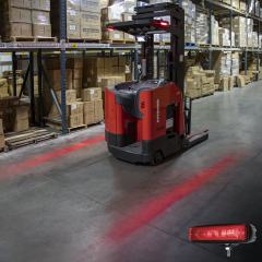 Red LED Forklift Light - LED Safety Light with Linear Beam Pattern - Red - Single