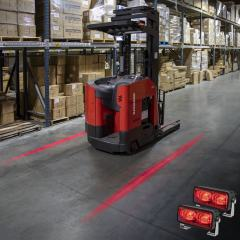 Forklift Red Light - LED Safety Light with Line Beam Pattern - 2-Pack