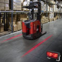 Forklift Red Light - LED Safety Light with Line Beam Pattern - Single