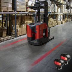 Low Profile Forklift Red Line LED Safety Light - 2-Pack