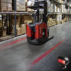 Low Profile Forklift Red Line LED Safety Light - Single