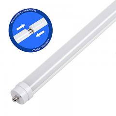 8ft T8/T12 LED Tube - 36W - 5040 Lumens - Dual End Electric Ballast Compatible Type A - 75W Equivalent - 5000K